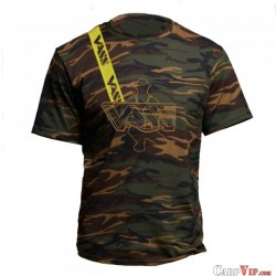 T-Shirt Camo With Yellow Printed