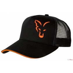 Fox® Trucker And Baseball Caps - Black/Orange Trucker Cap