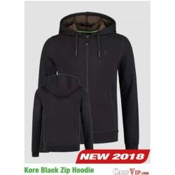 Kore Black Zip Hoodie