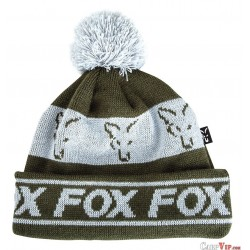 Fox Green/Silver - Lined Bobble Hat