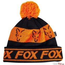 Fox Black/Orange - Lined Bobble Hat