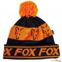Fox Black/Orange - Lined Bobble Hat
