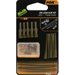 Edges® Zig Lead Clip Kit X5 Trans Khaki Kit Size 7