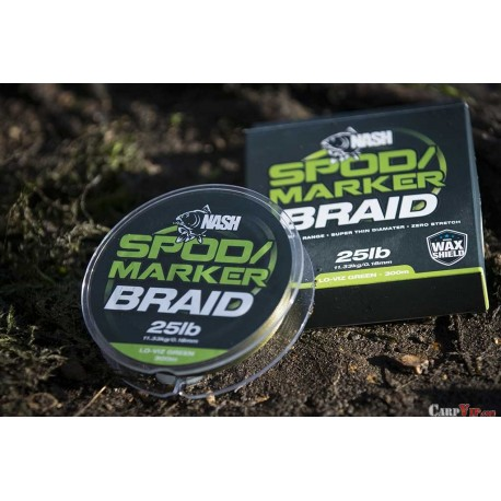 NASH LO-VIZ GREEN 300M SPOD//MARKER BRAID