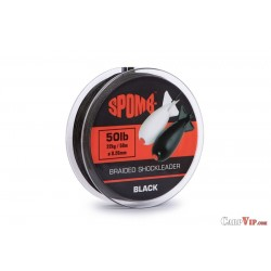 Spomb Braid Leader Black 50 mtr 22kg/50lb