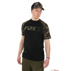 Fox® Black/Camo Raglan T Shirt