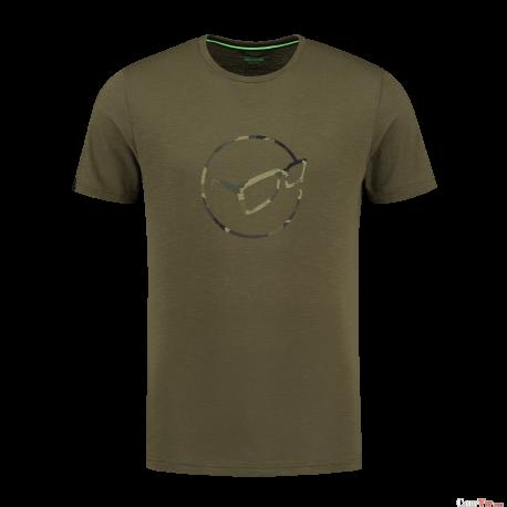 Le Distressed Logo Tee Olive