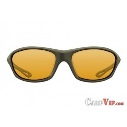 Sunglasses Wraps Gloss Olive / Yellow Lens