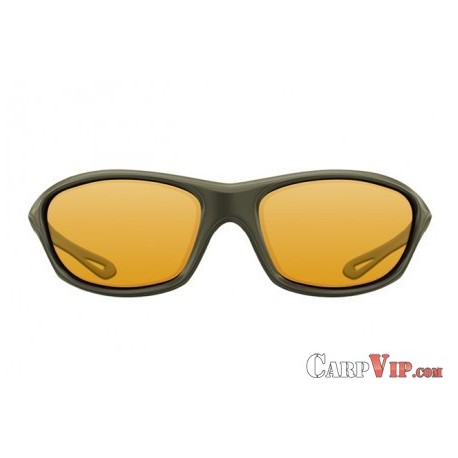 Sunglasses Wraps Gloss Olive / Yellow Lens