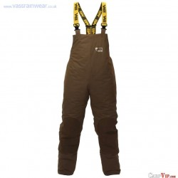 "Lined Bib n Brace Winter Team Vass 175 ""Khaki Edition"" : Taille S"